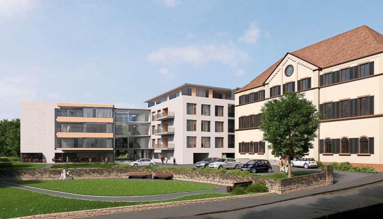 So soll der Neubau (links)  aussehen.  | Foto: Stocker-Dewes