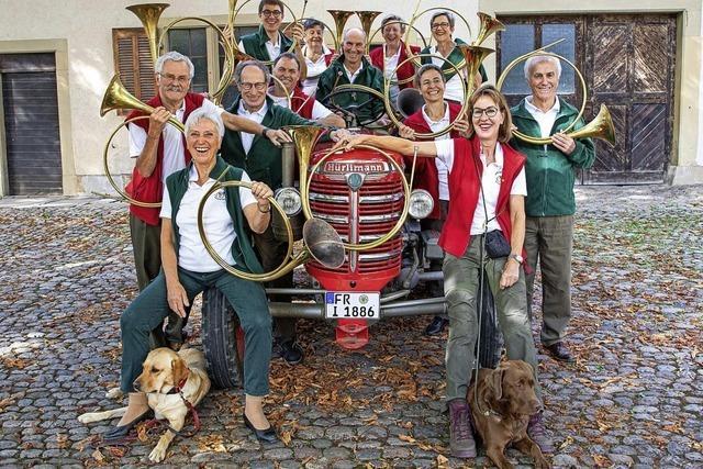 Jagdhornbläsergruppe Markgräflerland und Engelbert Ehret in Sulzburg