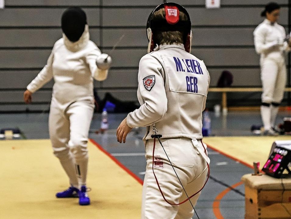 Mylène Leier (rechts) holte sich an zw...tagen dreimal Gold und einmal Silber.     Foto: Frederic Wetzel