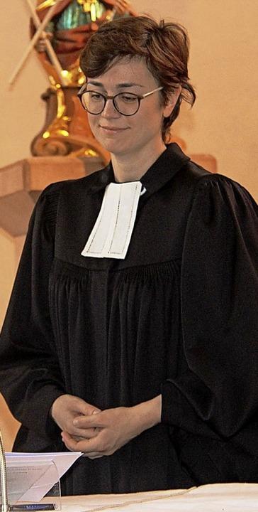 Laura Artes ist eine der Pfarrerinnen im Kirchenbezirk.  | Foto: Horst David