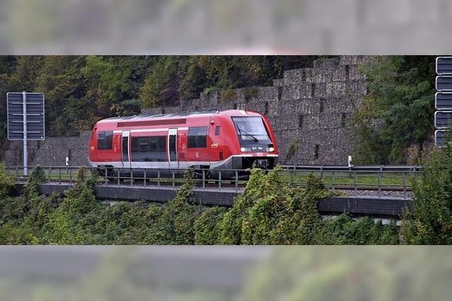 Ein Zug fährt durchs Wutachtal