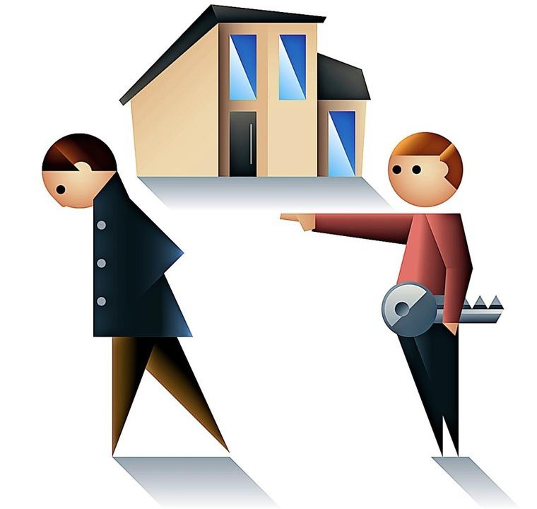 Wenn der Vermieter das Haus selbst nut...arfskündigungen gibt es viele Gründe.   | Foto: dpa-infografik GmbH