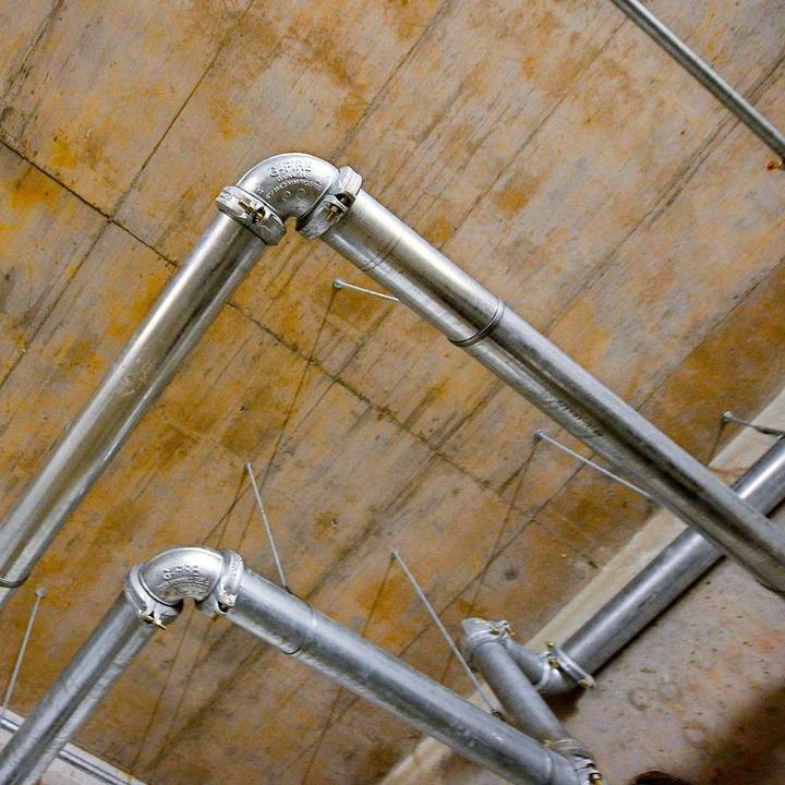 Sprinklerrohre in der Tiefgarage  | Foto: Ingo Schneider