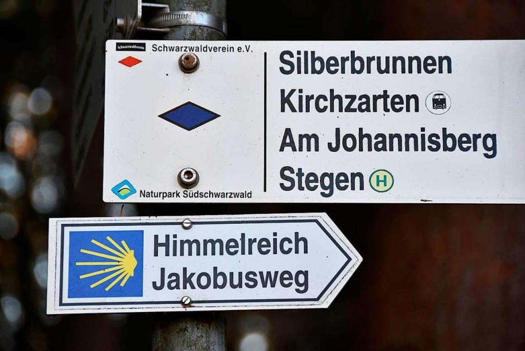 Immer der Muschel nach: Der Himmelreic...n über Kirchzarten nach Weil am Rhein.  | Foto: Manfred Frietsch