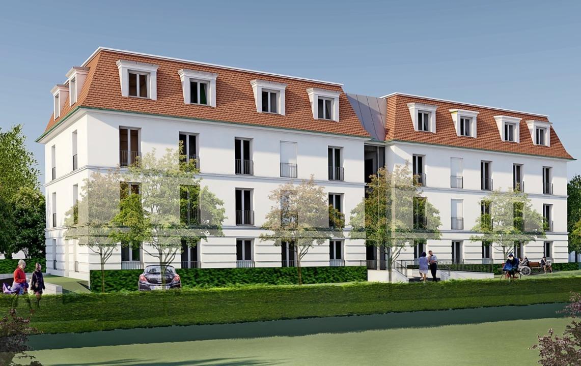 So sieht der Entwurf für die Neubebauung aus.   | Foto: Brenzinger & Bartelt Architekten