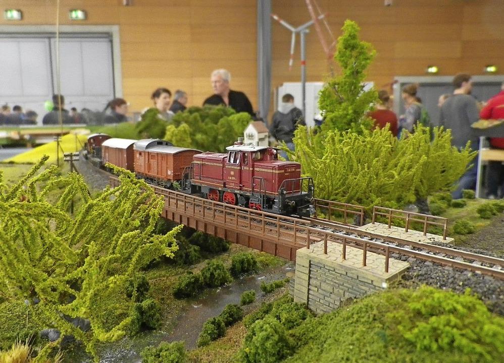 Jeder Modellbauer gestaltet ein Modul,...ann mit anderen zusammengesetzt wird.     Foto: Jutta Geiger