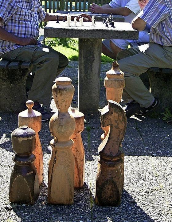 Kein Bedarf? Freiluft-Schach in Waldkirch.  | Foto: Bernd Fackler