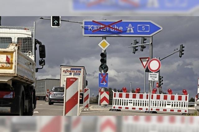 Sanierung der Autobahn bei Lahr