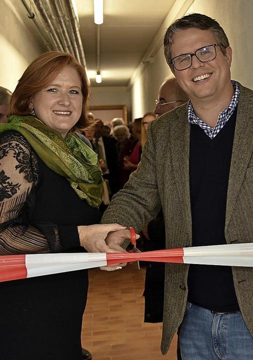 Sandra Talmon Gros und Bürgermeister Tobias Benz  | Foto: Heinz und Monika Vollmar