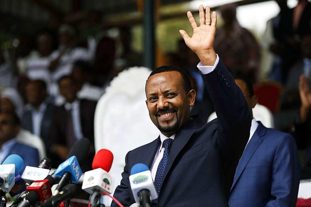 Abiy Ahmed, nachdem er 2018 zum Regierungschef erkoren wurde  | Foto: ZACHARIAS ABUBEKER (AFP)