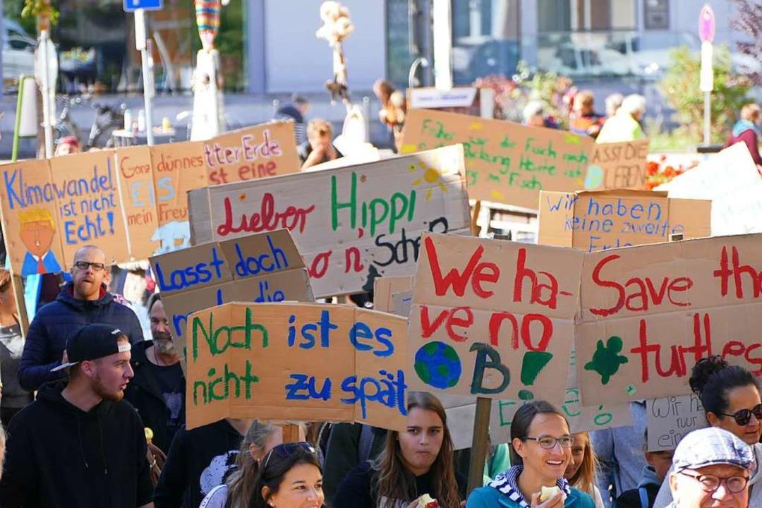 Protestiert wird viel in Sachen Klima ...f mehr Verbindlichkeit in der Politik.    Foto: Tanja Bury