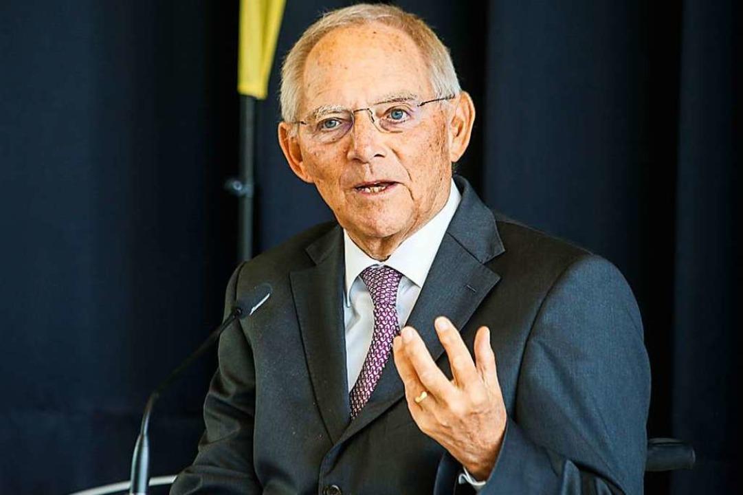 Wolfgang Schäuble ist seit 2017 Präsident des Deutschen Bundestages.    Foto: Sandra Decoux-Kone