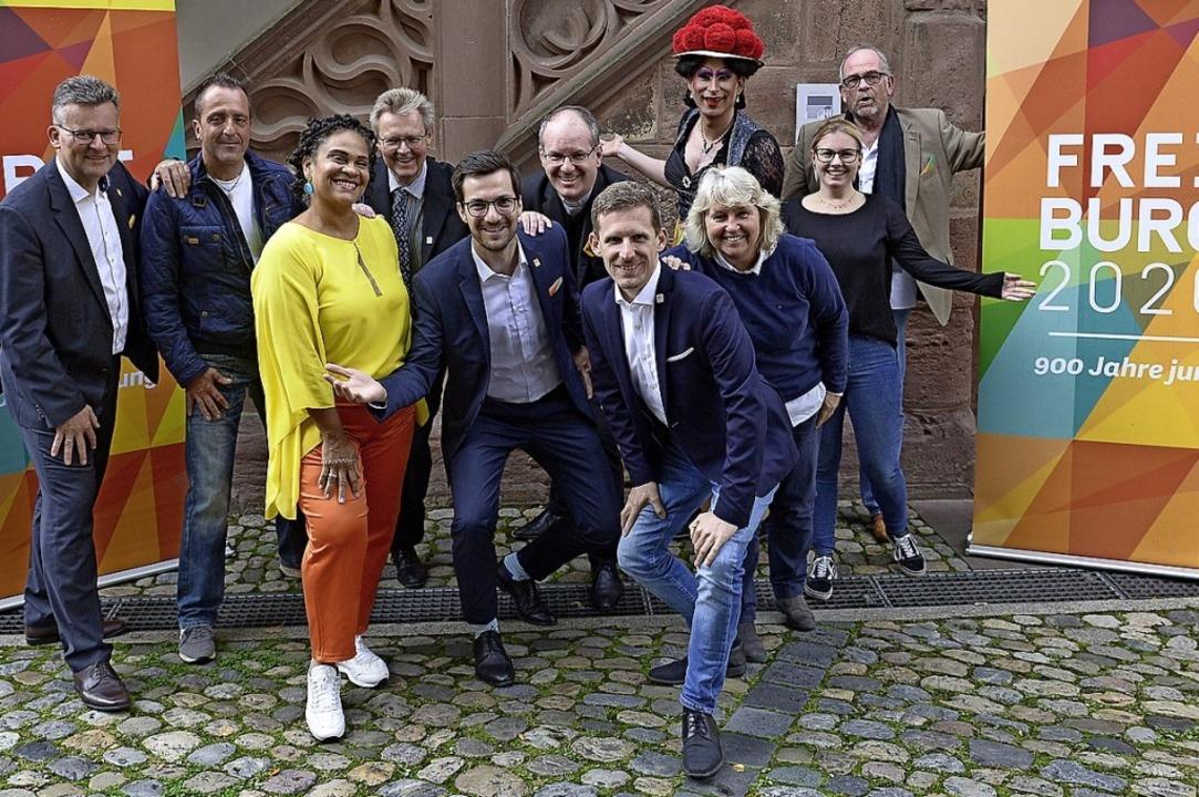 Rathausspitze, Jubiläums-Organisator u...e beim Fototermin nicht anwesend sein.  | Foto: Ingo Schneider