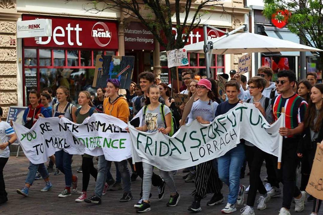 as Engagement Jugendlicher für den Kli... September, beeindruckt die Kreisräte.    Foto: Joshua Kocher