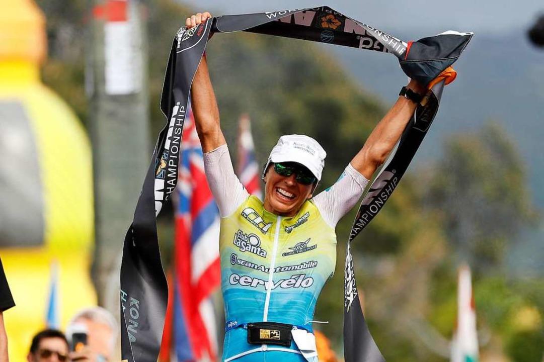 Anne Haug gewinnt als erste Deutsche die Ironman-WM auf Hawaii.  | Foto: Marco Garcia (dpa)