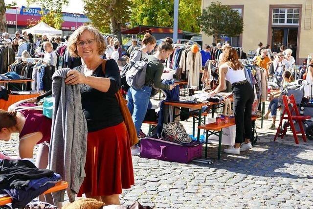Der Frollein-Flohmarkt der BZ in Lörrach war ein voller Erfolg