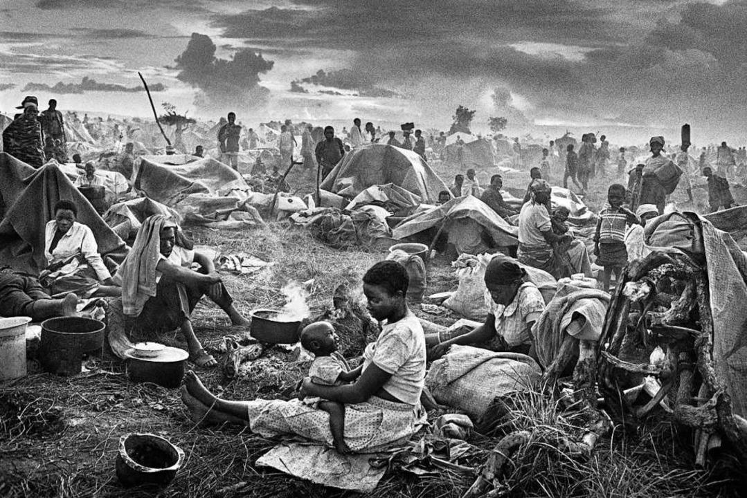 Aus der Heimat vertrieben: Ruandisches Flüchtlingscamp Benako, Tansania 1994   | Foto: Sebastia Salgado