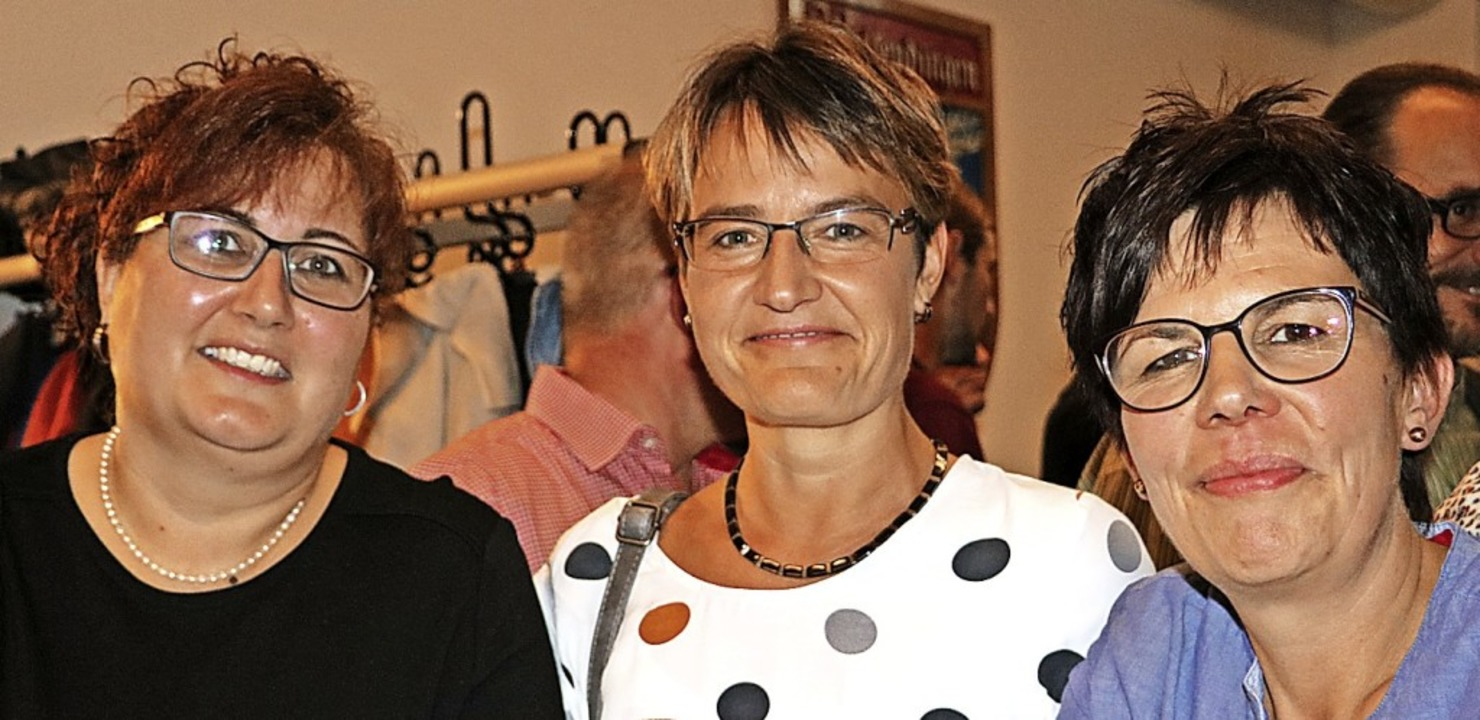 Melanie Gampp, Bettina Fechtig und Bri...llte auf jeden Fall wiederholt werden.  | Foto: Martha Weishaar
