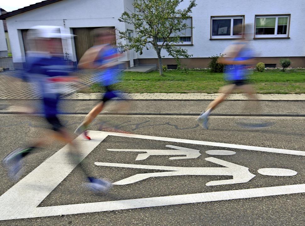 Die Ettenheimer Straßen gehörten beim ...en großen und kleinen Leichtathleten.   | Foto: Wolfgang Künstle