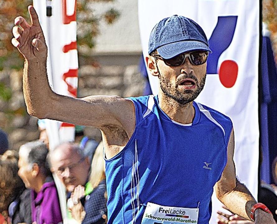 Marathonsieger Marius Stang    Foto: Wolfgang Scheu