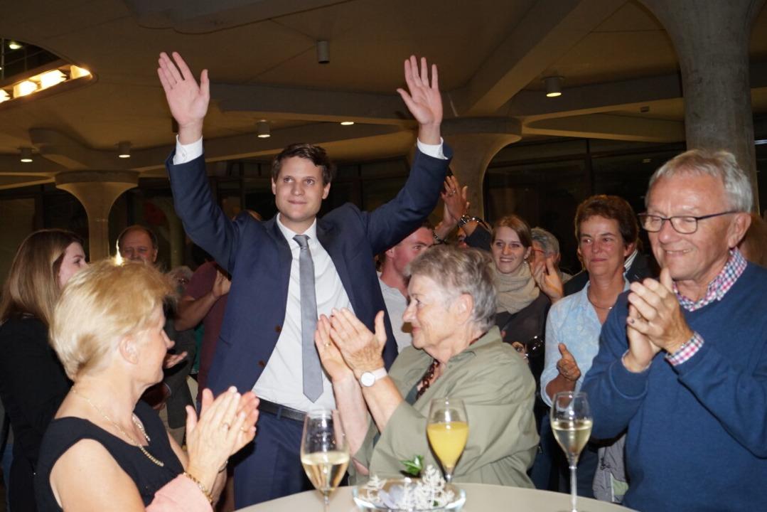 Vincenz Wissler freut sich über den Sieg.  | Foto: Silke Hartenstein