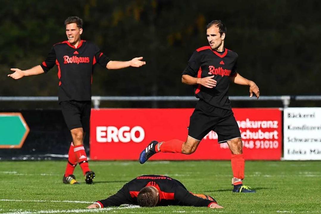 Bauchlandung: Grafenhausens Aufsteiger...egen den SV Obereschach mit 0:4-Toren.    Foto: Wolfgang Scheu