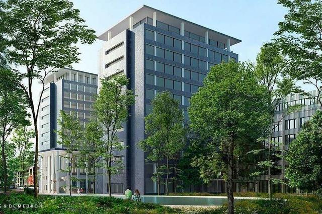 Der Bau des Zwillingsturms der Helvetia in Basel beginnt