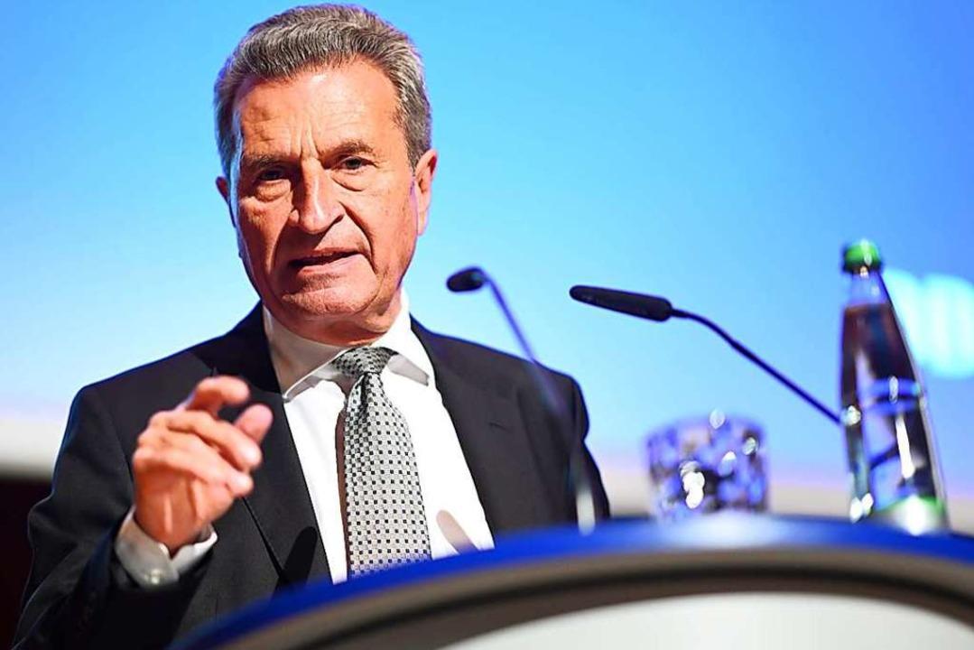 Günther Oettinger verabschiedet sich in den politischen Ruhestand  | Foto: Felix Kästle (dpa)