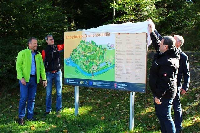 Im Schönauer Buchenbrändle wurde der Energie-Erlebnispfad eingeweiht