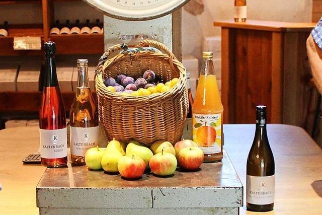 Familie Kaltenbach in Wildtal verkauft Wein - und Obst aus eigenem Anbau