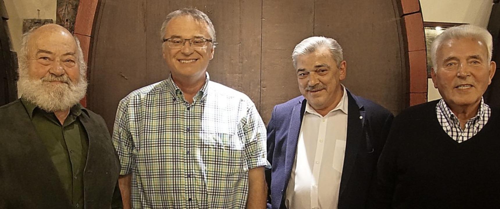Ehrungen beim CDU-Stadtverband  Ending...el Hug, Bernd Adler und Franz Lederle.  | Foto: Ilona Huege