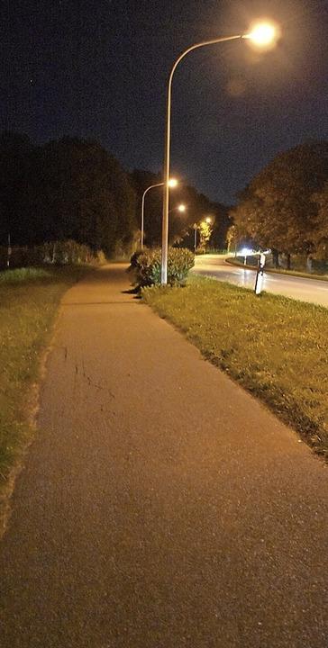 Nachts soll es am Radweg an der B34 zu dunkel sein.   | Foto: Heinz und Monika Vollmar