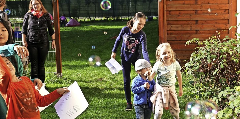 Im Mittelpunkt des Jubiläums standen natürlich auch bei der Feier die Kinder.   | Foto: Hans-Jürgen Hege