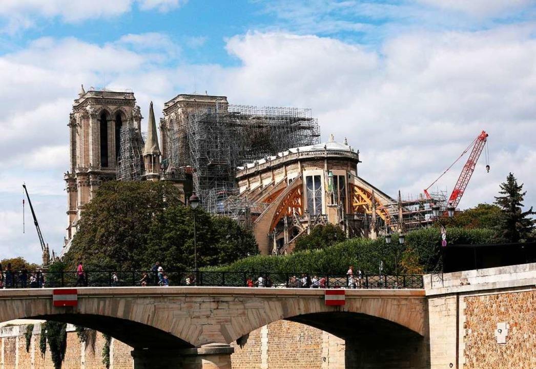 Die Baugerüste halten die fragile Kathedrale zusammen  | Foto: Gao Jing