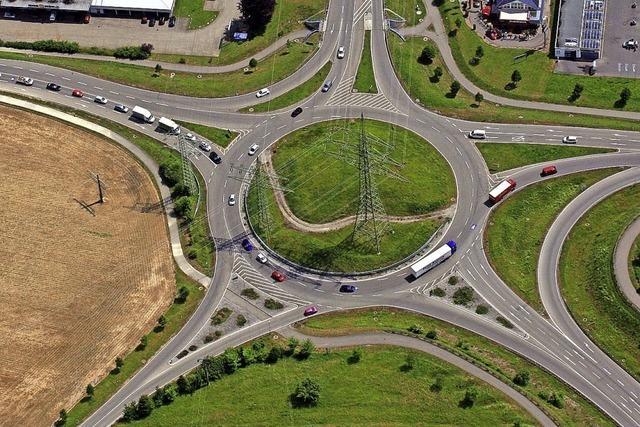 Der Turbinenkreisverkehr ist der größte Unfallschwerpunkt in Rheinfelden