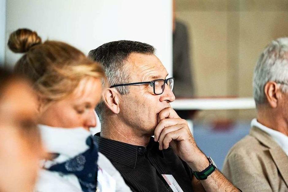 """""""Bleib wie Du bist und ändere Dich täglich"""" war das Motto des Faktor A Business Talk, zu dem die Agentur für Arbeit Freiburg in Zusammenarbeit mit der BZ eingeladen haben. (Foto: Fabian Rudolph)"""