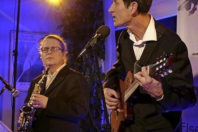 Anselm König und Saxophonist Beat Riggenbach treten in Herrischried auf