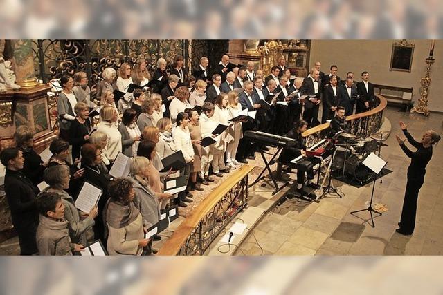 Drei Chöre begeistern in Barockkirche