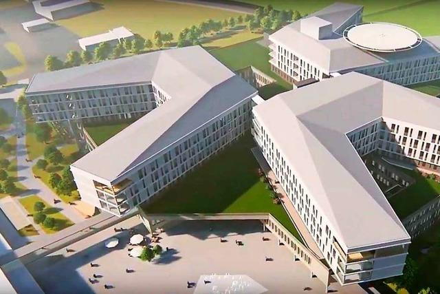 Verwaltung stellt Bebauungsplanentwurf für das Zentralklinikum vor
