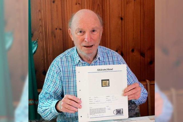 Heinrich Maier sammelt Briefmarken seit er 6 Jahre alt ist