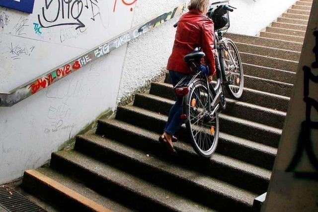 Der Bahnhof ist ein großes Problem für Radfahrer