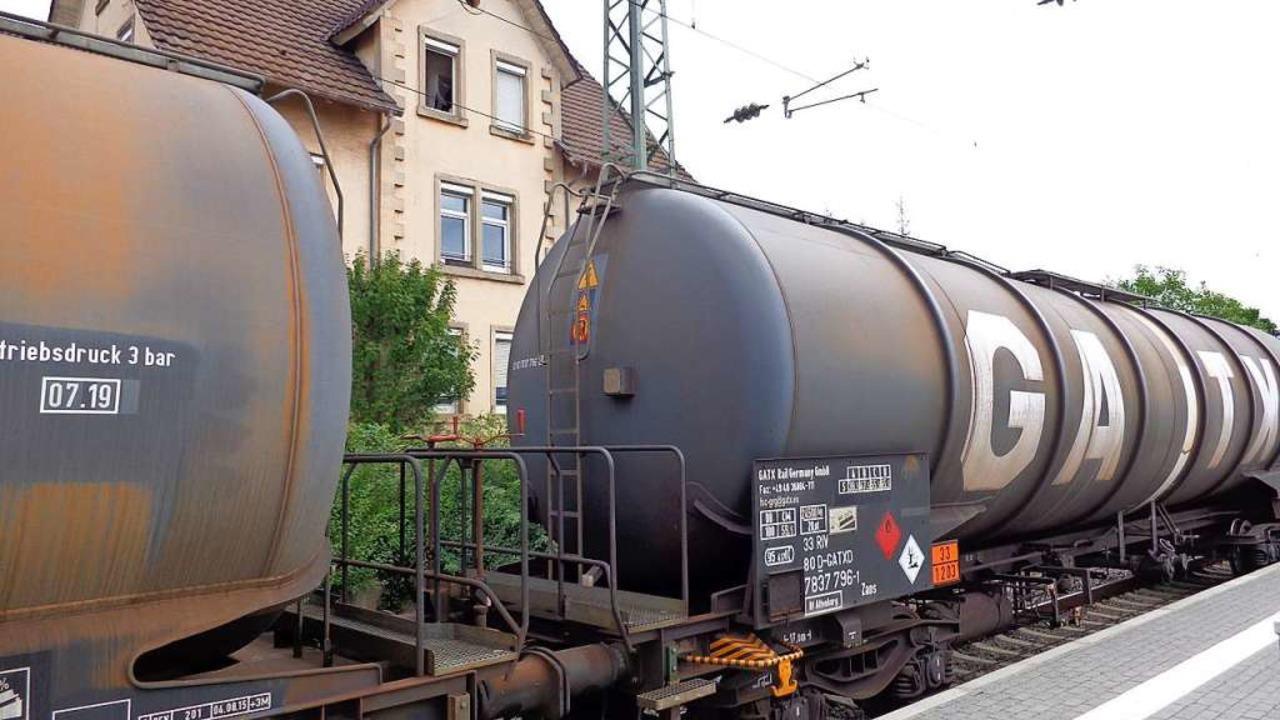 Güterzug in Efringen-Kirchen  | Foto: zvg