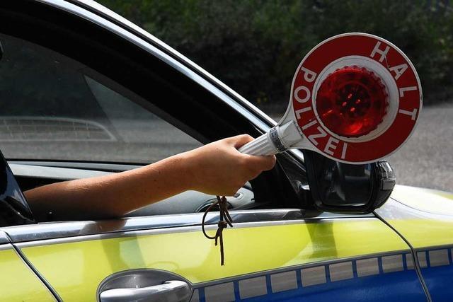 Immer wieder ertappt die Polizei auch im Elztal von Drogen noch berauschte Autofahrer