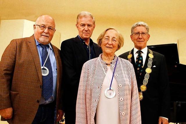 Drei Lahrer erhalten die Verdienstmedaille der Stadt