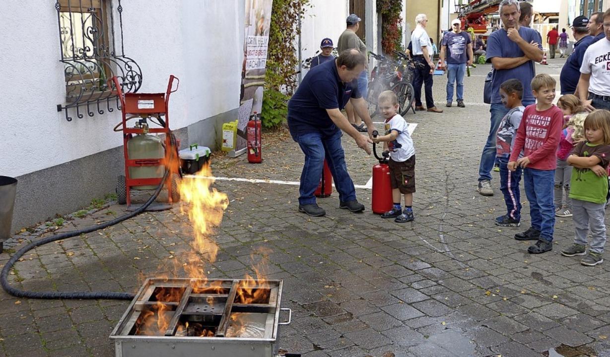 Auch in der Spielstraße ging es heiß her.  | Foto: Aribert Rüssel