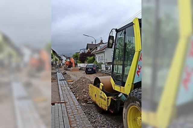 Breitmattstraße ist zu einem Drittel fertig