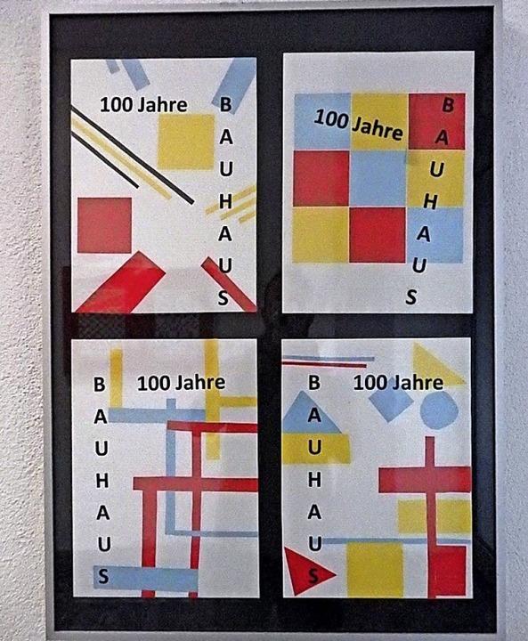 Plakate der BIZ-Schüler  | Foto: Tobias Schwab