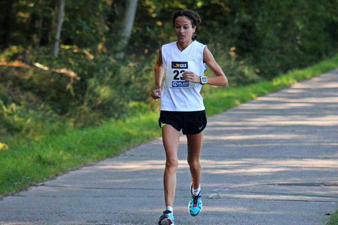 September 2019: Susanne Gölz auf ihrem...ft über die 100-Kilometer-Ultradistanz  | Foto: Privat