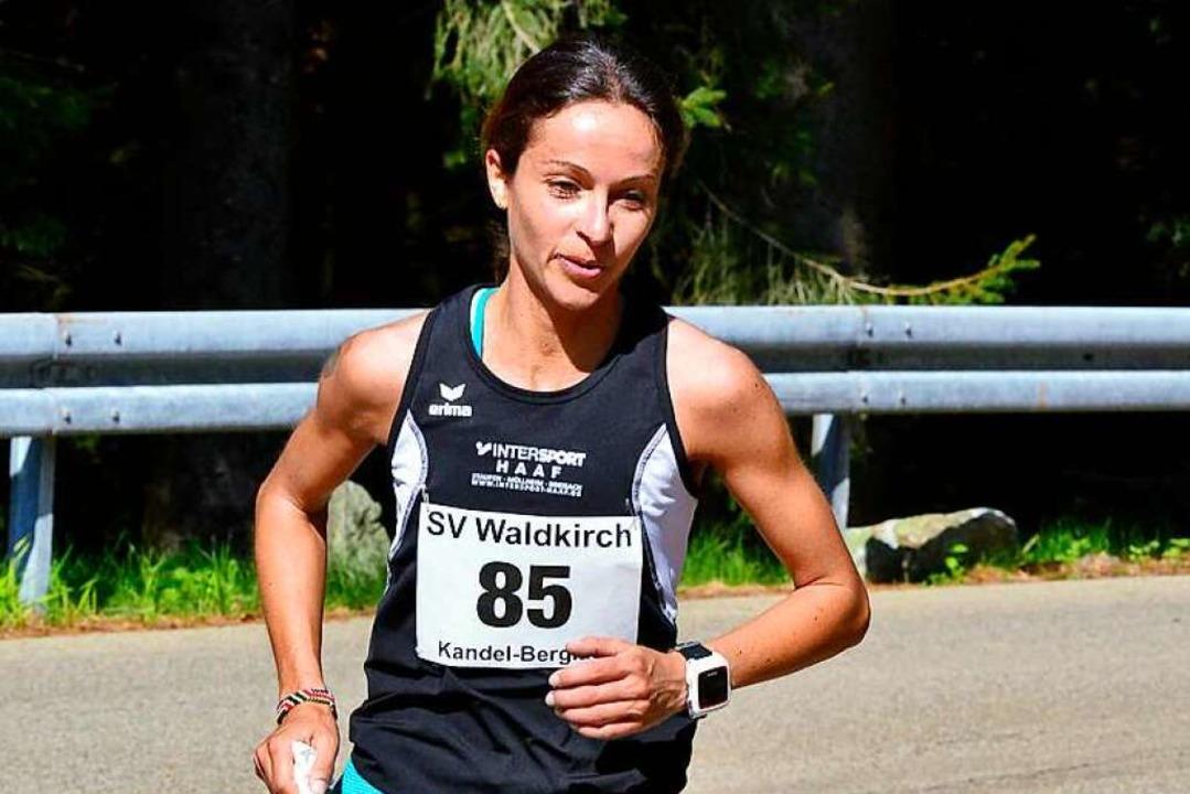 Susanne Gölz beim Kandel-Berglauf 2018, bei dem sie Dritte wurde.  | Foto: Daniel Thoma