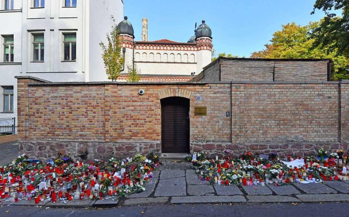 Die Synagoge in Halle  | Foto: Hendrik Schmidt (dpa)